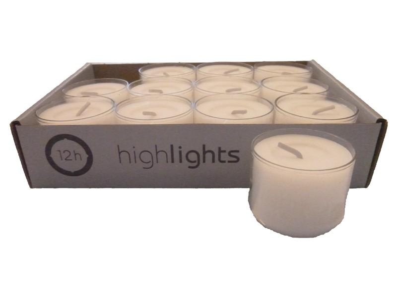 120 teelichter acryl cup transparent wei 12 std brenndauer highlights wenzel ebay. Black Bedroom Furniture Sets. Home Design Ideas